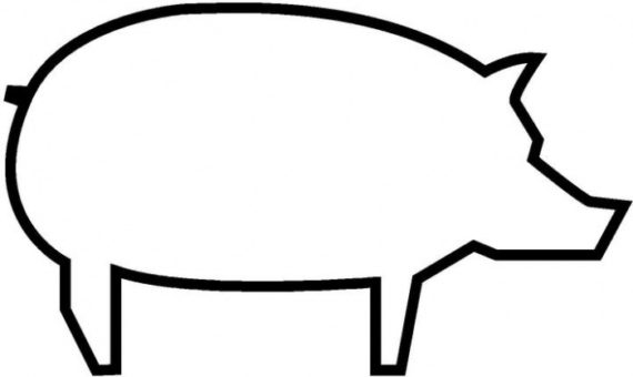 570x340 Pig Clipart Outline