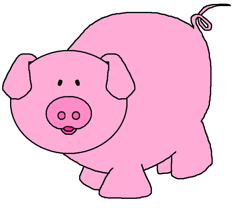 828x682 Pig Clip Art Black And White Free Clipart Images 2