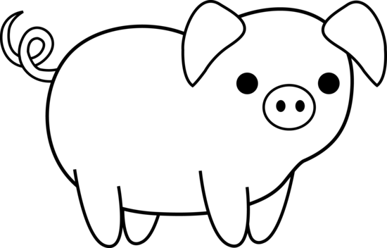 550x352 Pig Clipart Black And White
