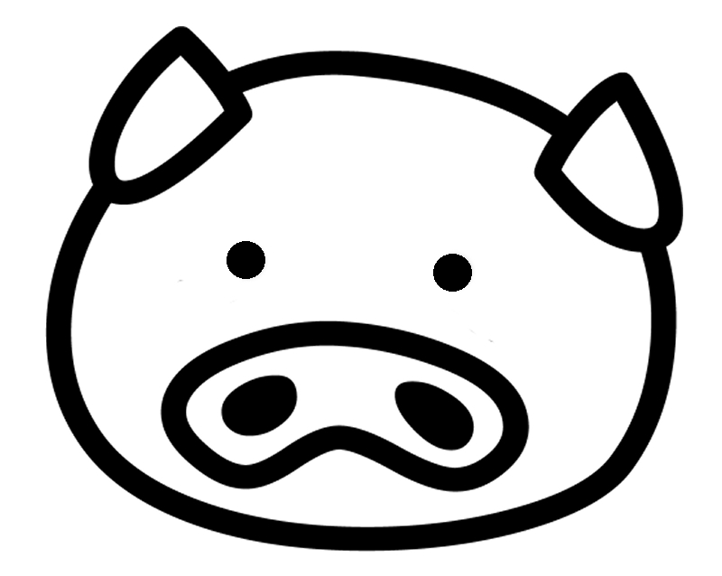 800x638 Pig Face Clipart