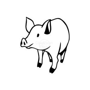 300x300 Realistic Clipart Pig