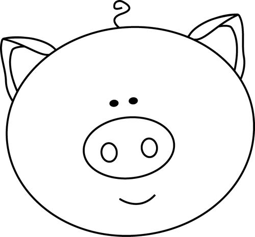 500x465 Black And White Pig Clipart, Explore Pictures