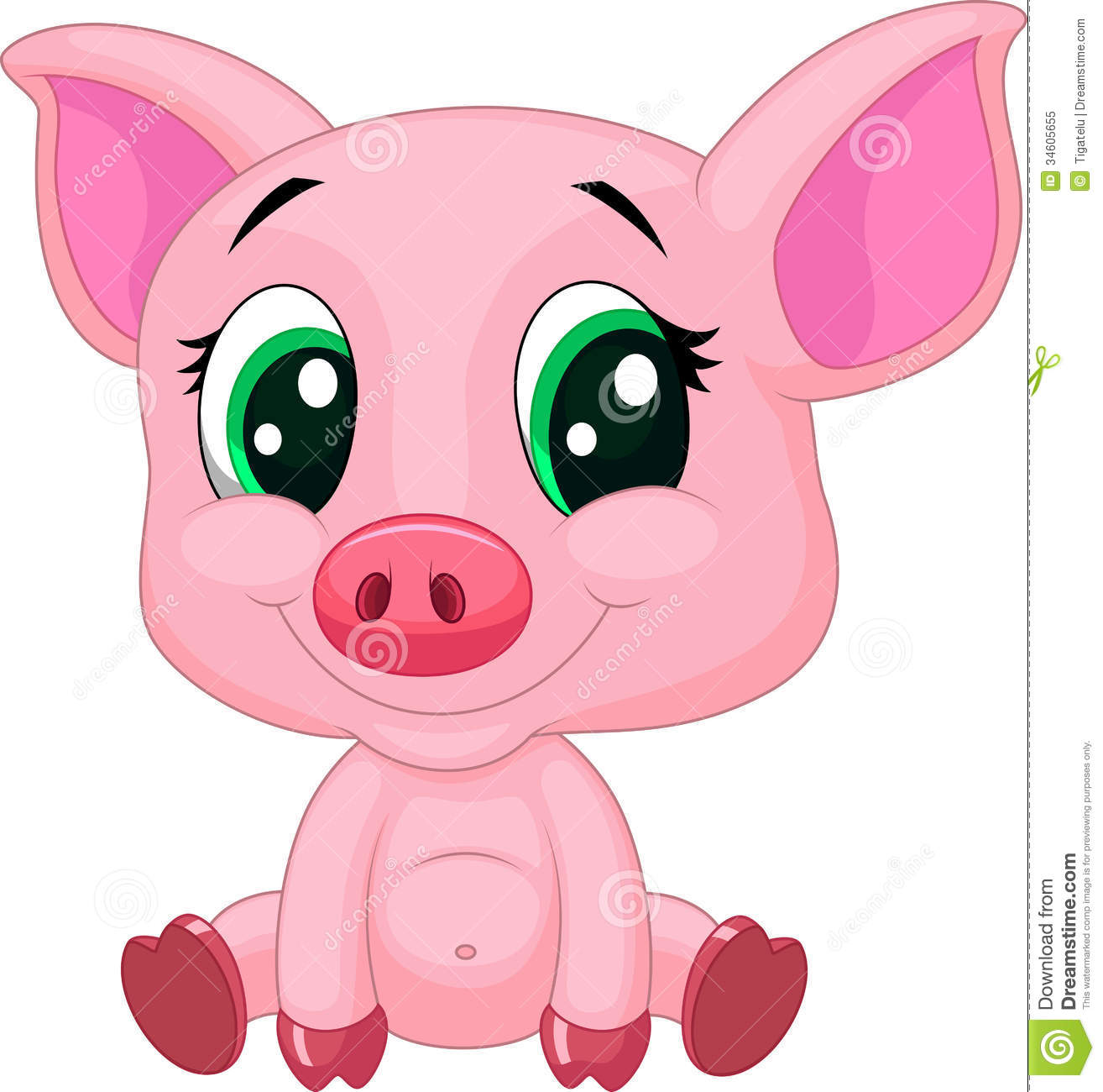 1314x1300 Cute Cartoon Pig Clipart