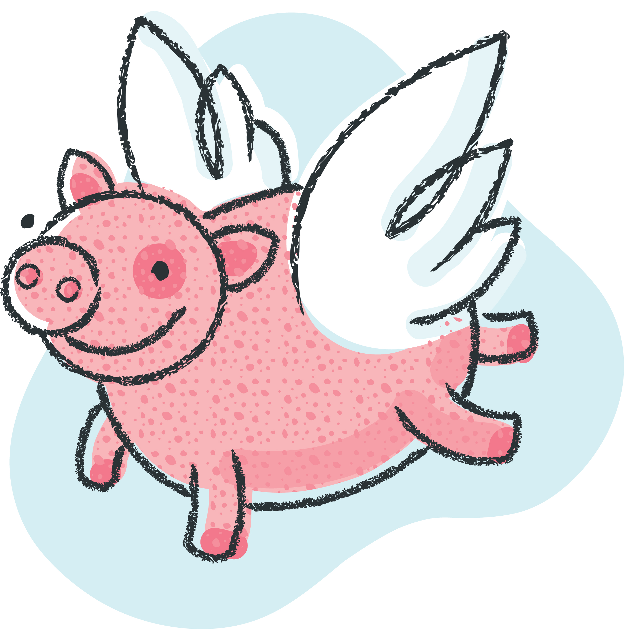 2400x2419 Free Black And White Pig Clip Art Clipart Image 4 2