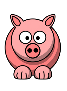 220x300 Pig Cartoon Clip Art Download