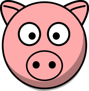 291x299 Pig Head Clip Art