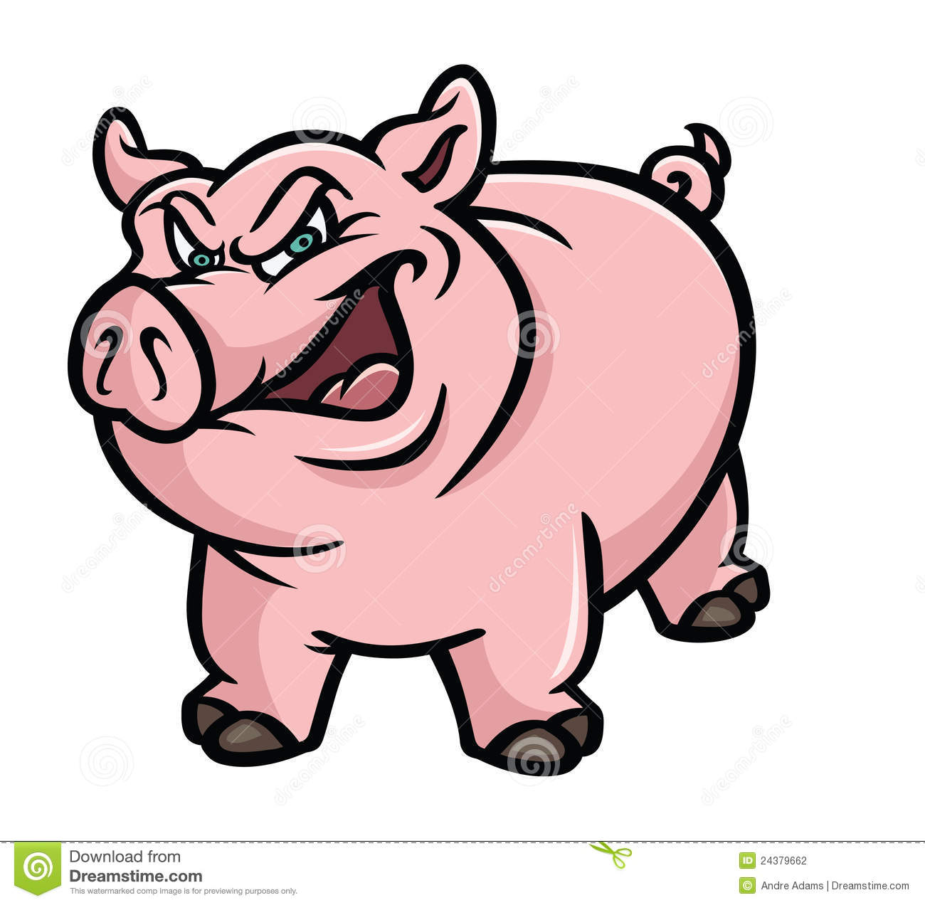 1300x1272 Pig Clipart Angry