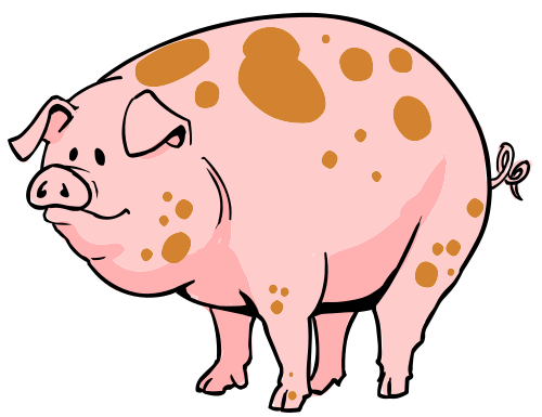 500x385 Cartoon Clipart Free Pig