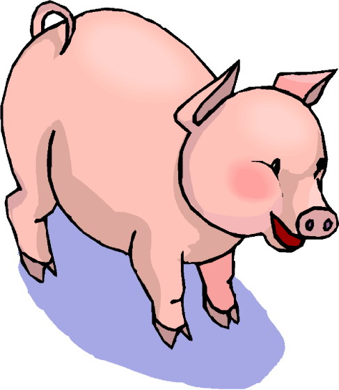 487x560 Clipart Pigs