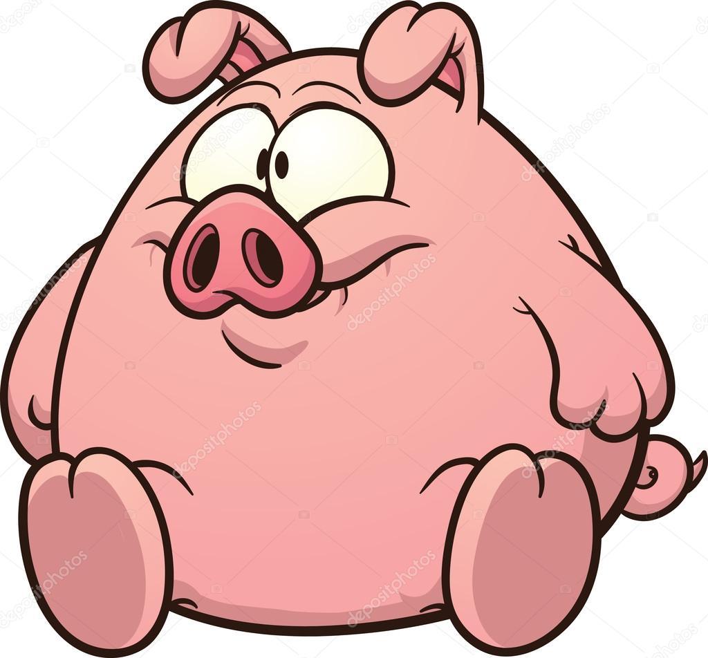 1024x952 Cartoon Fat Pig Stock Vector Memoangeles