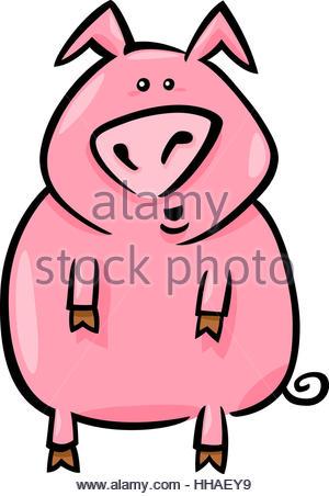 300x452 Character Of Pink Pig Cartoon Stock Vector Art Amp Illustration