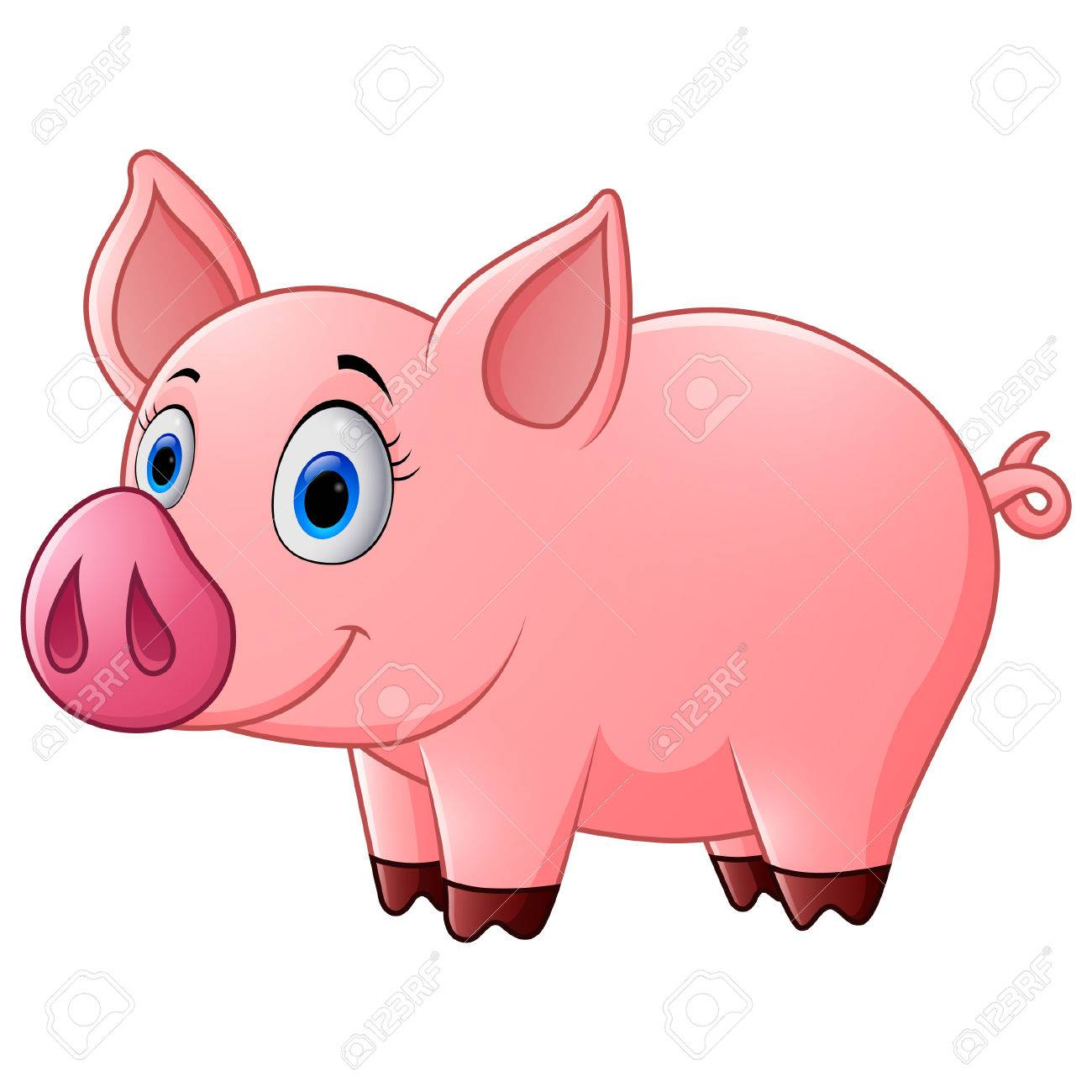 1300x1300 Cute Baby Pig Cartoon Stock Photo, Picture And Royalty Free Image