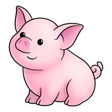 220x220 Cute Baby Pig Clipart