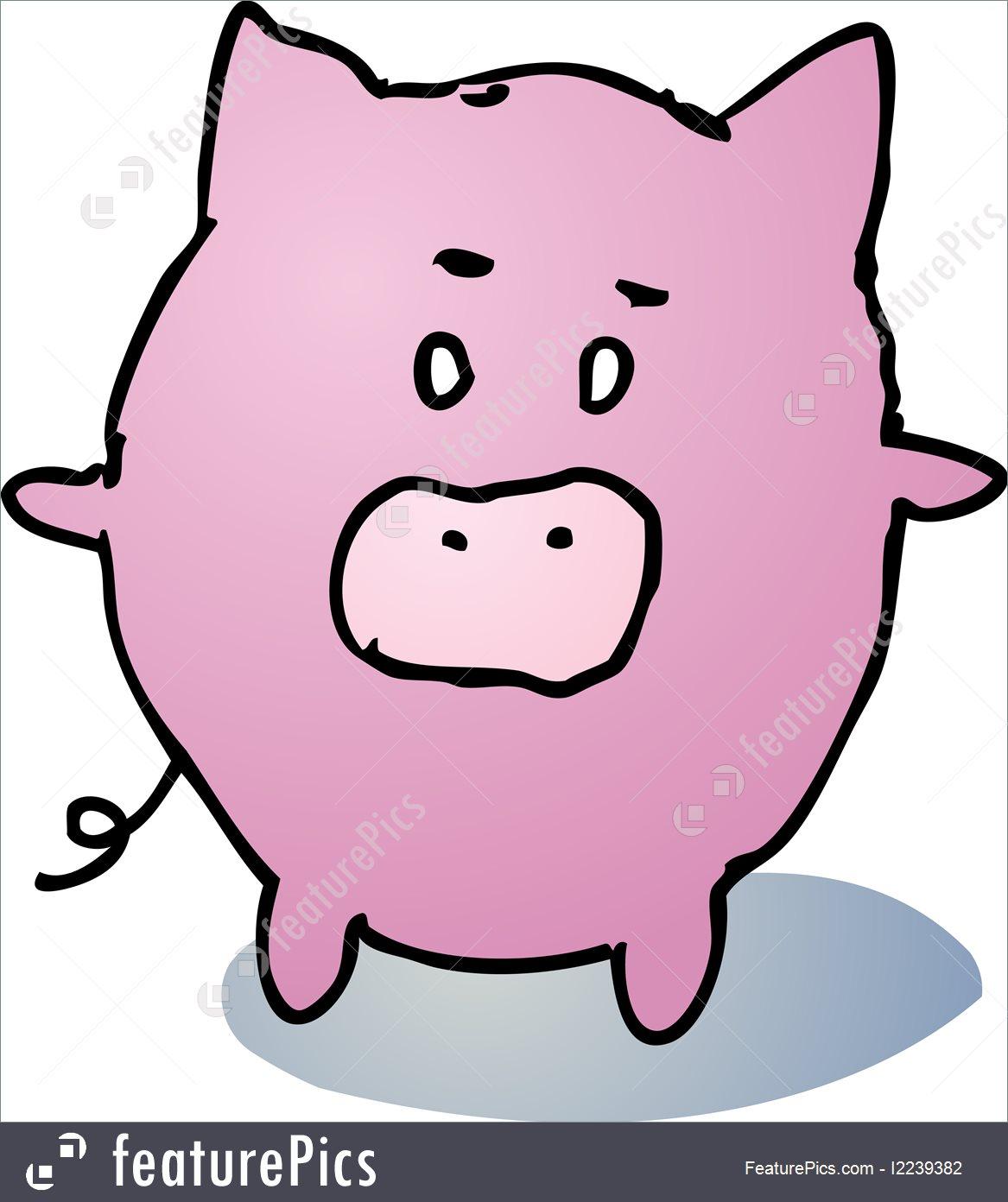 1167x1392 Fat Pig Cartoon Illustration
