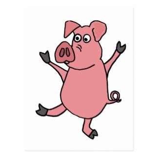324x324 Pig Cartoon Postcards Zazzle
