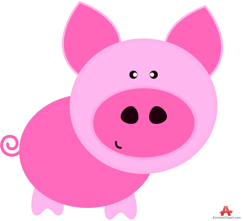999x909 Pink Pig Cartoon Character Design Free Clipart Design Download