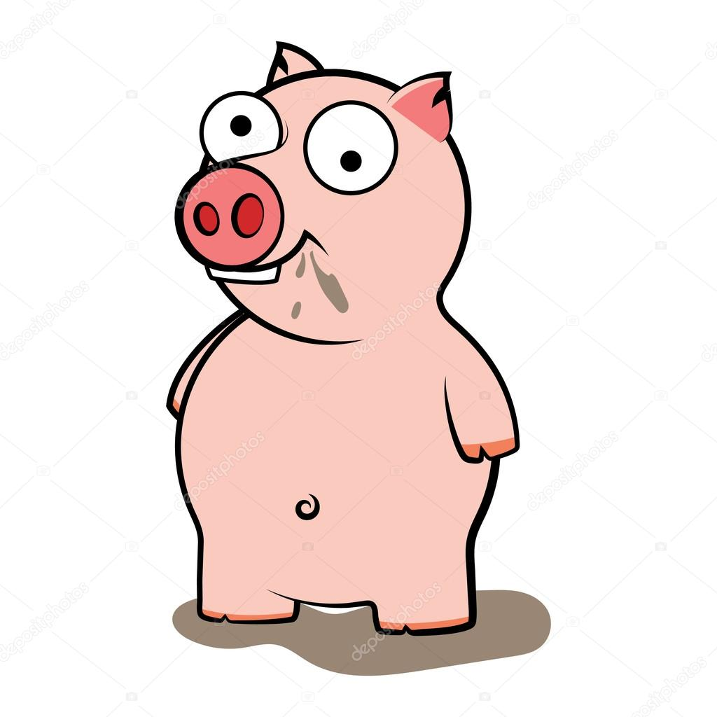 1024x1024 Dirty Pig Cartoon Stock Vector Zrestudiorus
