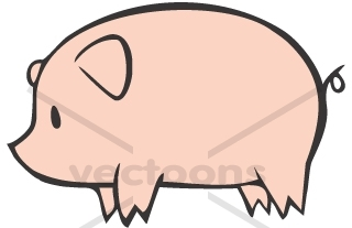 320x207 Cute Baby Pig Cartoon