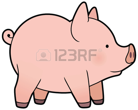 450x358 Cute Cartoon Vector Little Pig Royalty Free Cliparts, Vectors,