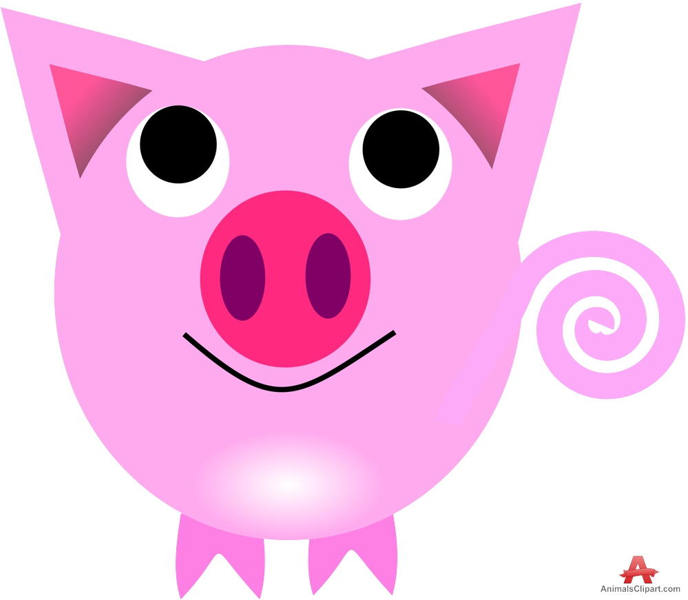 999x871 Sweet Pig Cartoon Character Free Clipart Design Download