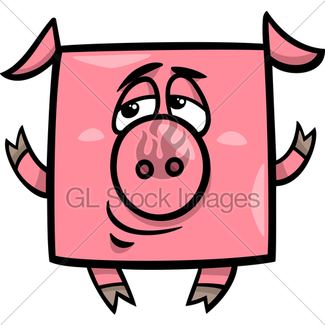 325x325 Cartoon Pig Gl Stock Images