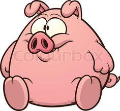 236x219 Cartoon Pig Waving Goodbye Photo All My Piggies