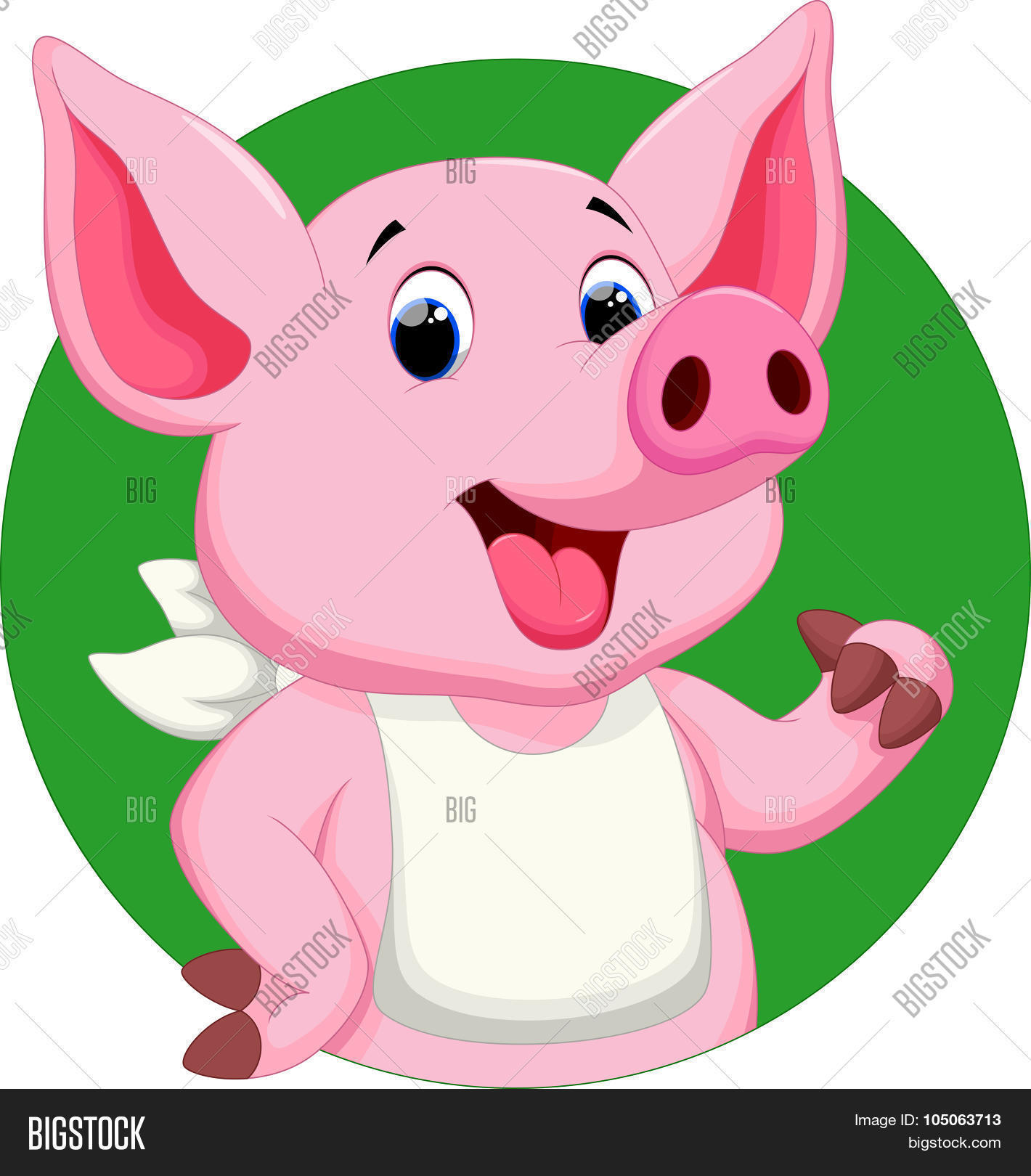 1420x1620 Cute Pig Thumbs Cartoon Vector Amp Photo Bigstock