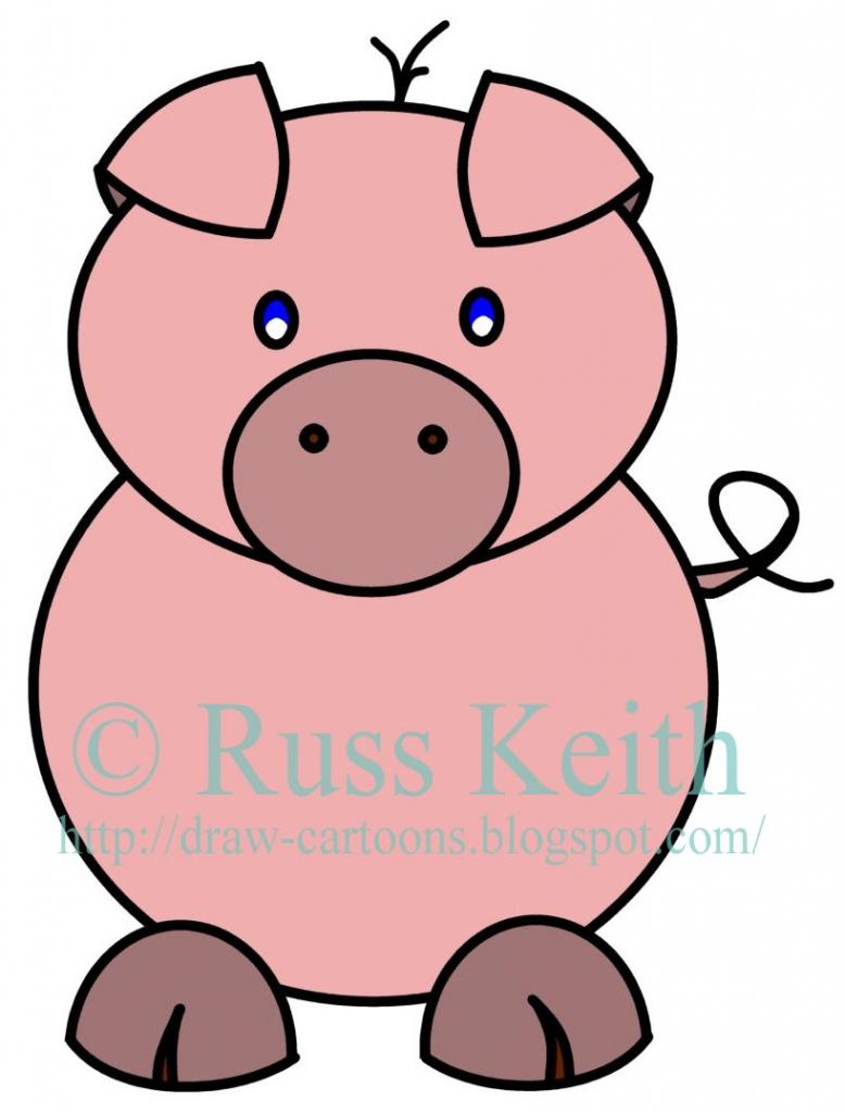 778x1024 How To Draw A Cartoon Pig How To Draw Cartoons Pig