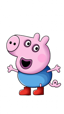 215x382 How To Draw George From Peppa Pig, Cartoons, Kids, Easy Step By
