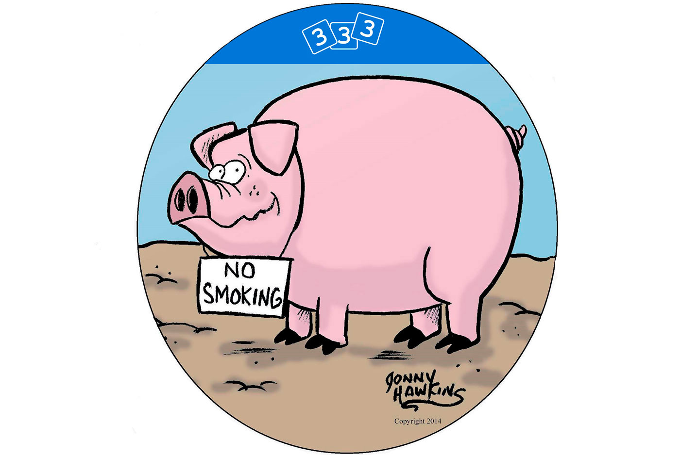 1400x938 Humor Pig Sign