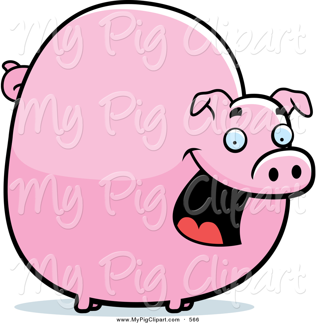 1024x1044 Swine Clipart Of A Chubby Pink Pig Smiling By Cory Thoman