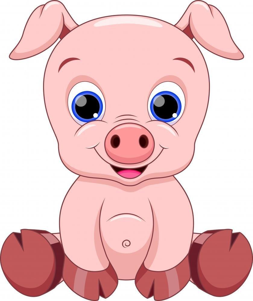 839x1000 Baby Pig Cartoon Wall Decal By Wallmonkeys Peel