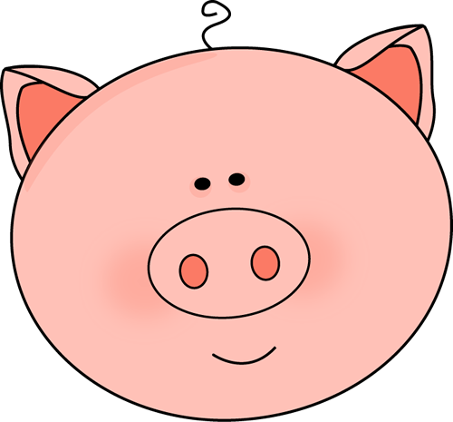 500x465 Pig Face Clip Art