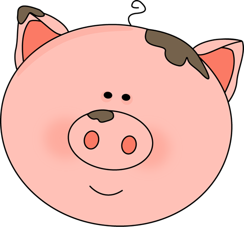 500x466 Pig Face With Mud Clip Art