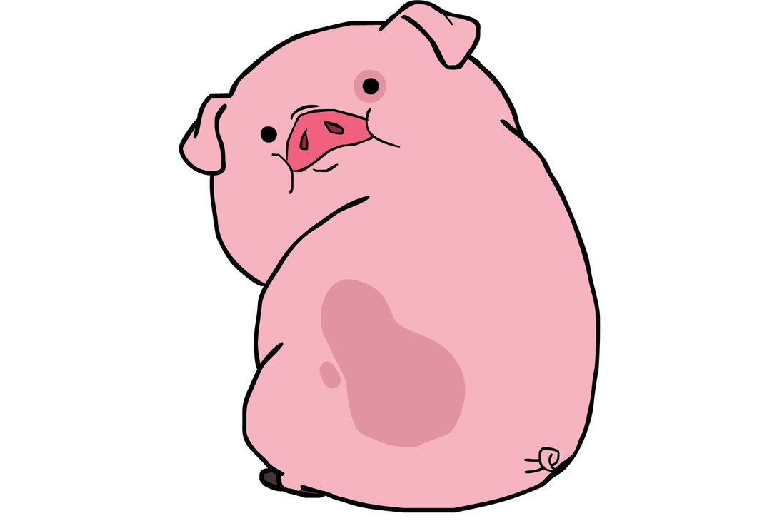 1095x730 Waddles The Pig Clip Art Cliparts