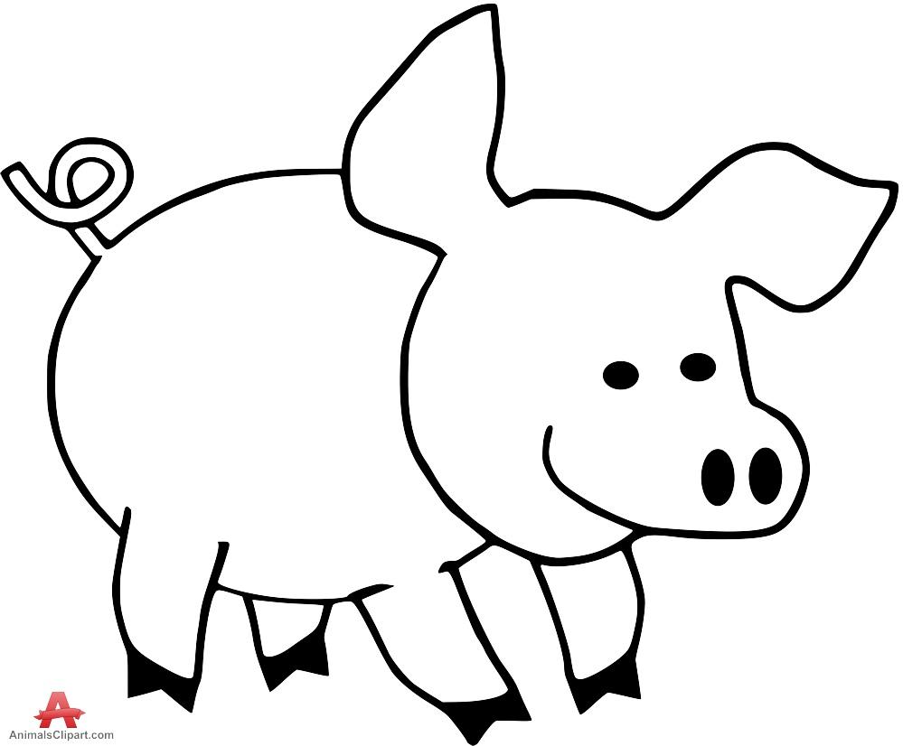 999x826 pig clip art