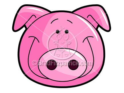 432x324 Cute Pig Clipart