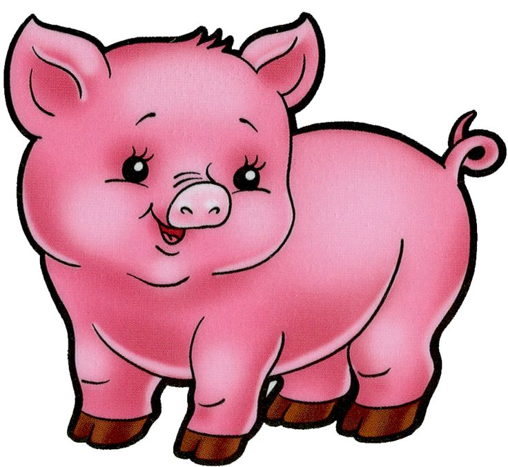 736x677 Farm Animals Clipart Pig
