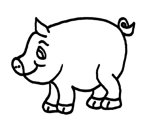 Pig Clipart Black And White
