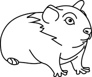185x155 Free Black And White Animals Outline Clipart
