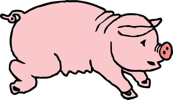 600x346 Free Black And White Pig Clip Art Clipart