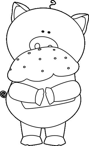 308x500 Pig Clip Art