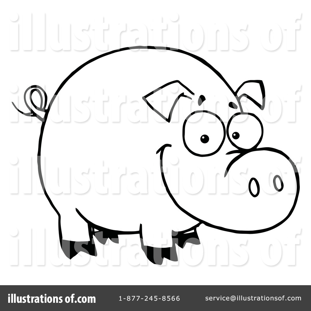 1024x1024 Pig Clipart