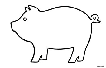 350x226 Pig Outline Clipart