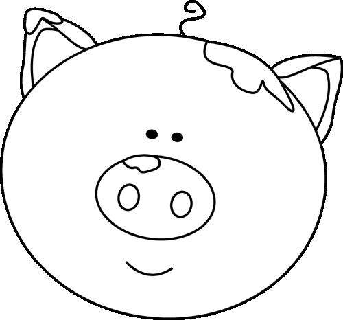 500x466 Pig Clipart Pig Head