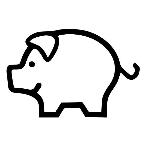 Pig Clipart Outline