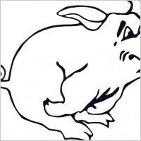 200x200 Guinea Pig Black And White Clipart