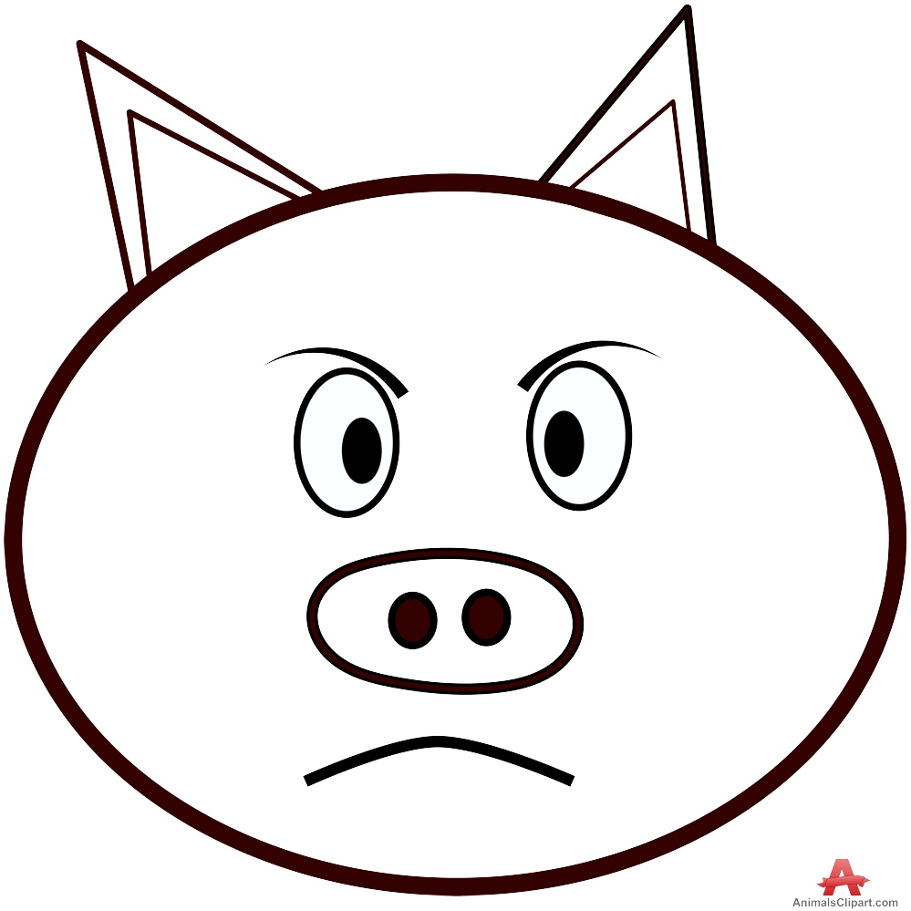 999x999 Pig Face Outline Clipart Free Clipart Design Download