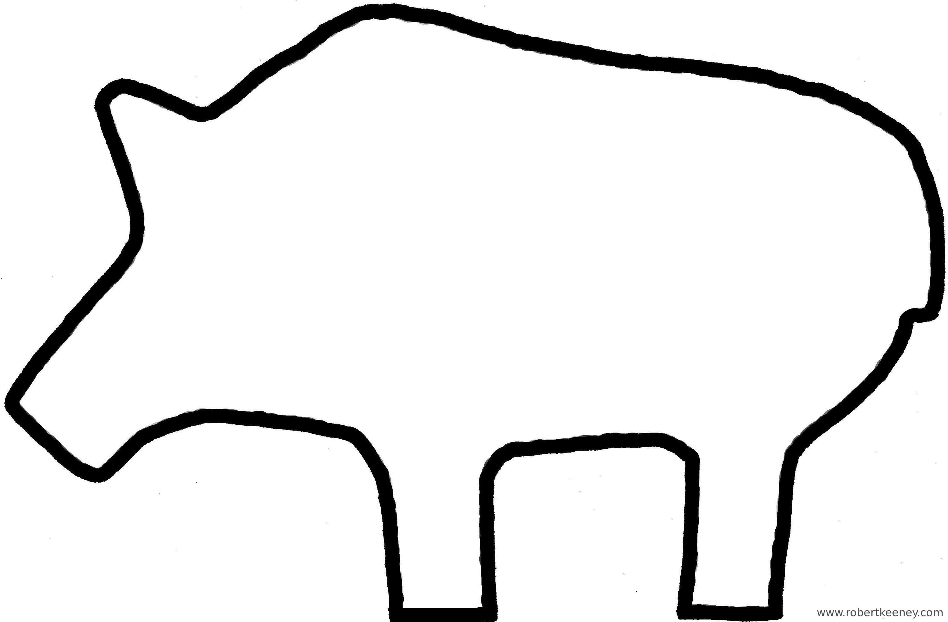 3245x2128 Pig Outline Clip Art