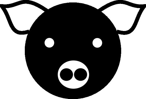 600x406 A Simple Pig Clip Art